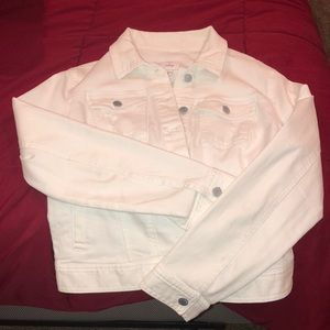 White Denim Jacket from Tilly's in a XL
